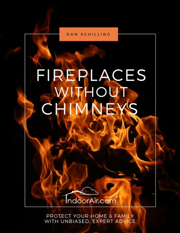 Photo of book cover for Fireplaces without Chimneys teaches you about ventless gas fireplace concerns