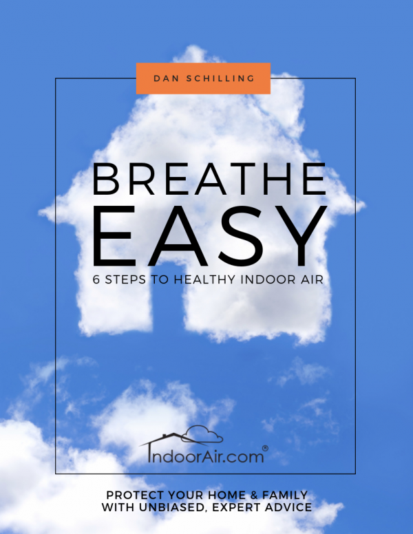 Breathe Easy 6 Steps to Healthy Indoor Air book to prevent sinus infection, asthma, and allergy symptoms